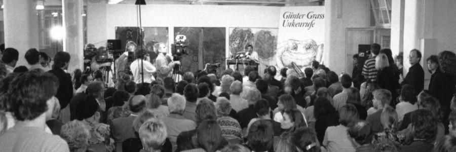Günter Grass liest in der Galerie »Dependence« in Specks Hof aus »Unkenrufe«. © Leipziger Messe