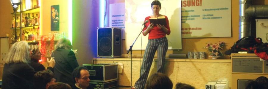 Juli Zeh liest im MagaPon »Die Stille ist ein Geräusch«. © Leipziger Messe/Uwe Frauendorf