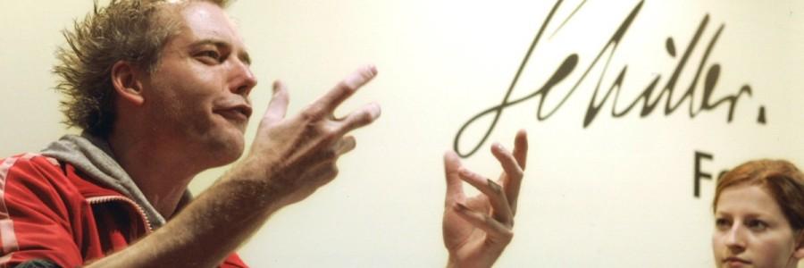 Leipzig liest Schiller: Schiller unplugged. Ein Vormittag von mit bei Schiller. Öffentliche Probe des Schauspiels Leipzig: Marco Albrecht und Jana Horst, Schiller Forum © Leipziger Messe/Tom Schulze