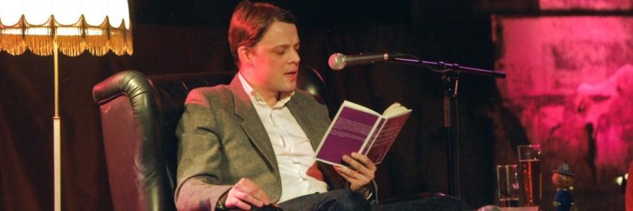 Moritz von Uslar beim Wuster Wesse Literaturclub, UT Connewitz © Leipziger Messe/Uwe Frauendorf