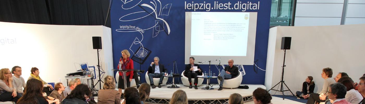 Leipzig.liest.digital. © Leipziger Messe/Stefan Hoyer