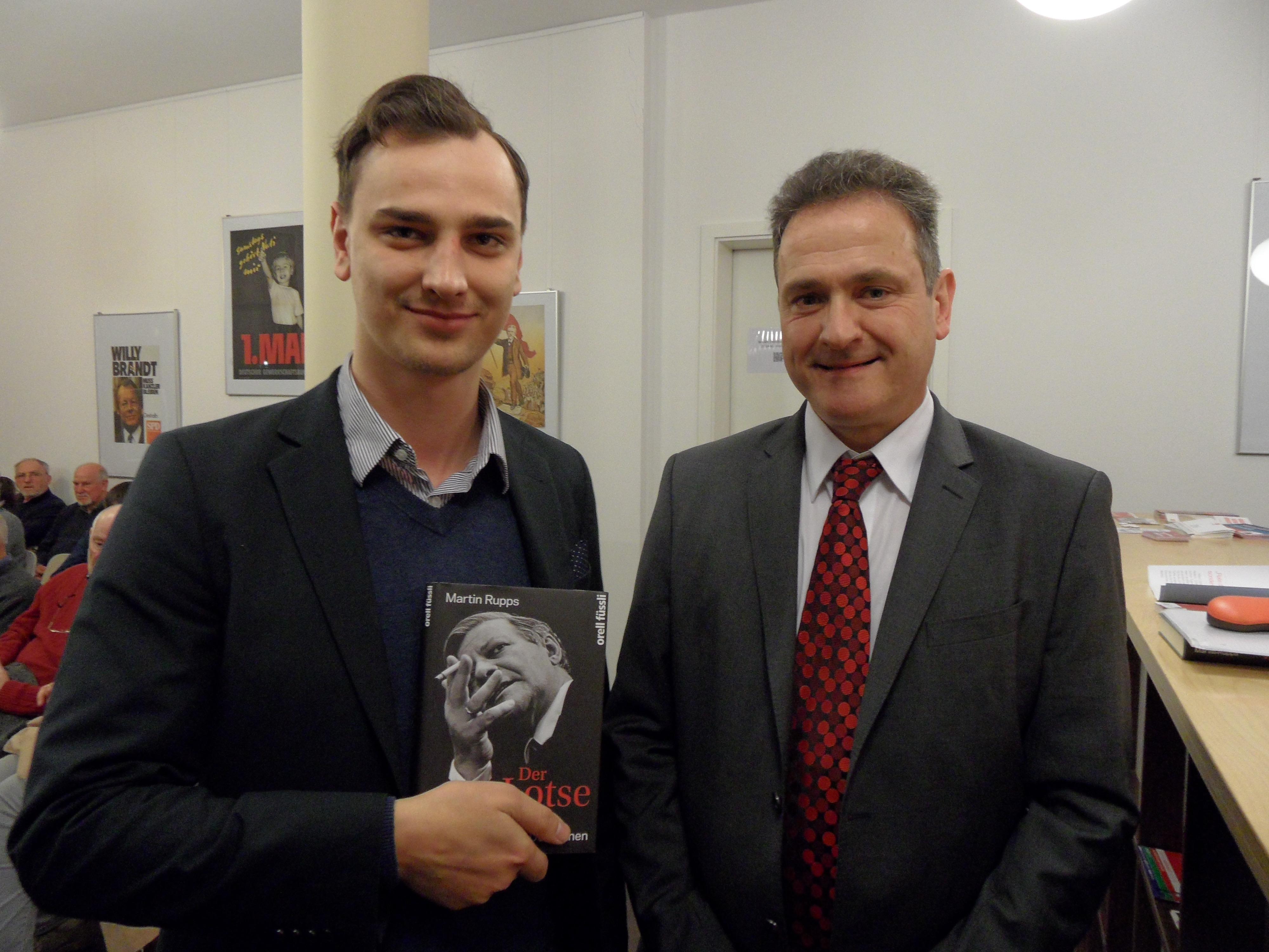 Leipzig-lauscht-Redakteur David Rentel mit Martin Rupps (r.). © David Rentel