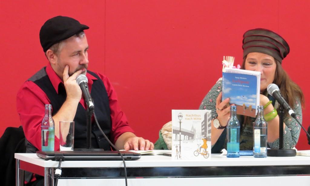 Martin Jankowski (links) und Tanja Dückers (rechts). © Caroline Christen