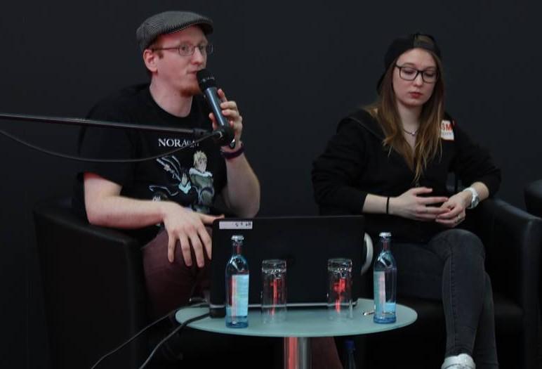 Tobias (links) und Christine (rechts) von KSM Anime. © Lucienne Buchmann