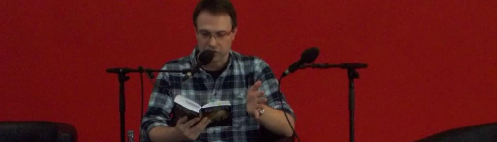 Ulrik van Doorn während der Lesung. © Anja Kalz