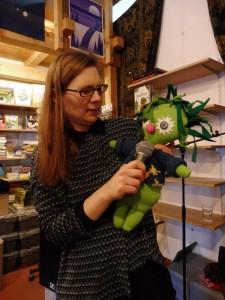 Kirsten Fuchs mit Miesepups. © Anna Löwe