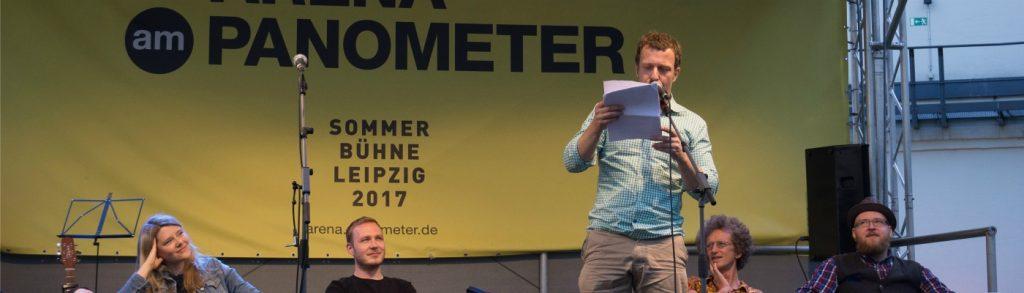 Martin Gotti Gottschild als Special Guest auf der Sommerbühne in der Arena am Panometer. © Theresa Nickol
